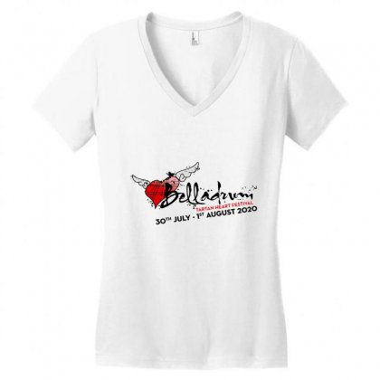 Belladrum Tartan Heart Festival Women's V-neck T-shirt Designed By Cahayadianirawan