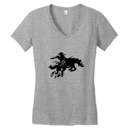 Stabbed Cowboy Women's V-neck T-shirt Designed By Acoy