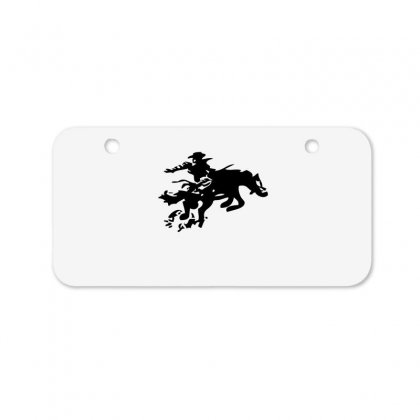 Stabbed Cowboy Bicycle License Plate Designed By Acoy
