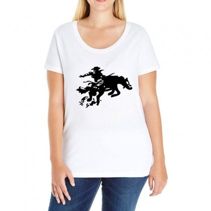 Stabbed Cowboy Ladies Curvy T-shirt Designed By Acoy