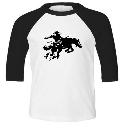 Stabbed Cowboy Toddler 3/4 Sleeve Tee Designed By Acoy