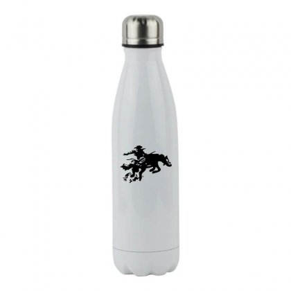 Stabbed Cowboy Stainless Steel Water Bottle Designed By Acoy