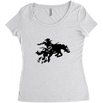 Stabbed Cowboy Women's Triblend Scoop T-shirt Designed By Acoy