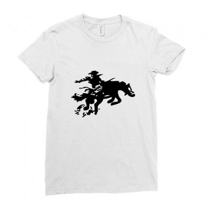 Stabbed Cowboy Ladies Fitted T-shirt Designed By Acoy