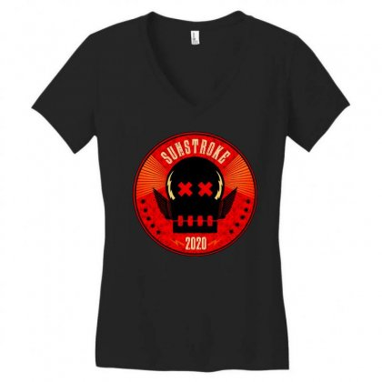 Sunstroke Women's V-neck T-shirt Designed By Cahayadianirawan
