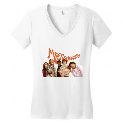 Metronomy Women's V-neck T-shirt Designed By Cahayadianirawan