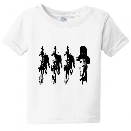 Three Cowboys  And Cowboys Faces Baby Tee Designed By Acoy
