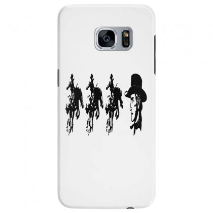 Three Cowboys  And Cowboys Faces Samsung Galaxy S7 Edge Case Designed By Acoy