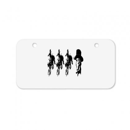 Three Cowboys  And Cowboys Faces Bicycle License Plate Designed By Acoy