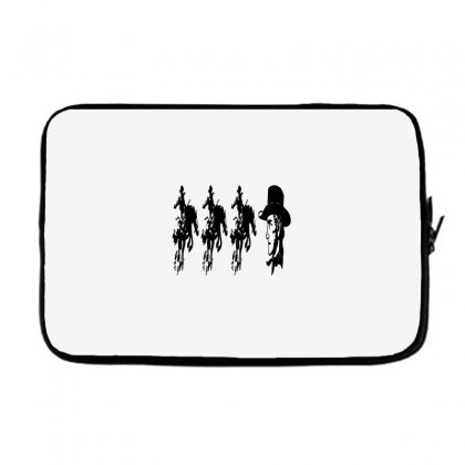 Three Cowboys  And Cowboys Faces Laptop Sleeve Designed By Acoy
