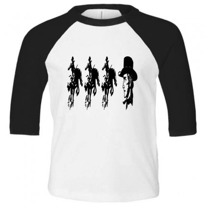 Three Cowboys  And Cowboys Faces Toddler 3/4 Sleeve Tee Designed By Acoy