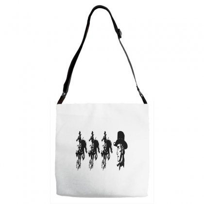 Three Cowboys  And Cowboys Faces Adjustable Strap Totes Designed By Acoy