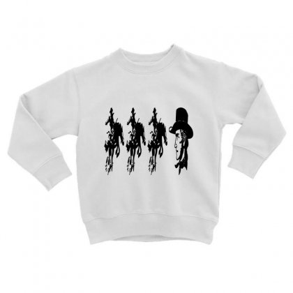 Three Cowboys  And Cowboys Faces Toddler Sweatshirt Designed By Acoy