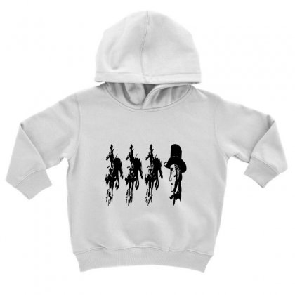Three Cowboys  And Cowboys Faces Toddler Hoodie Designed By Acoy