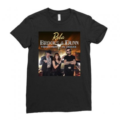 Reba Brooks & Dunn Together In Vegas Ladies Fitted T-shirt Designed By Cahayadianirawan