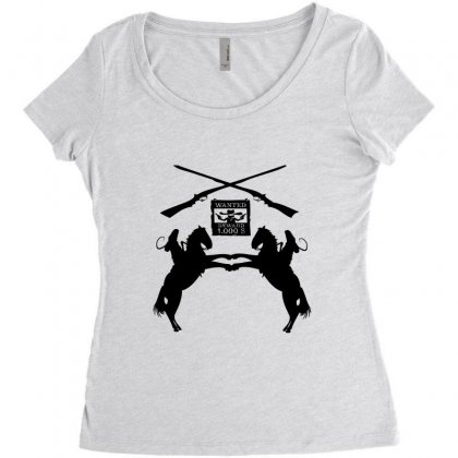 Wanted  Reward Women's Triblend Scoop T-shirt Designed By Acoy