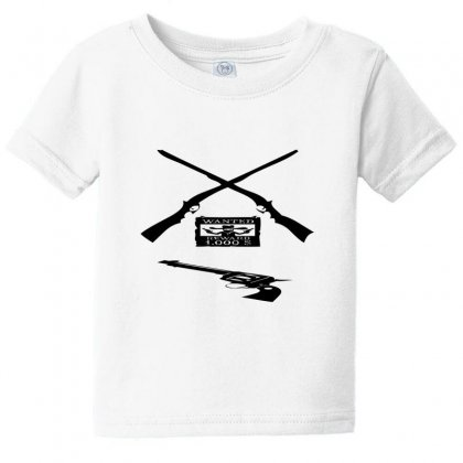 Wanted Cowboy Weapons Baby Tee Designed By Acoy