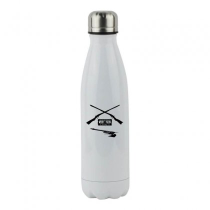 Wanted Cowboy Weapons Stainless Steel Water Bottle Designed By Acoy