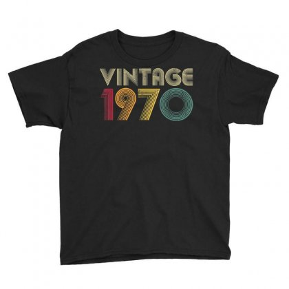 Retro 1970 50th Birthday Gift Classic 50 Years Old Vintage T Shirt Youth Tee Designed By Cuser1744