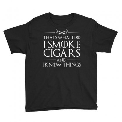 Smoke Cigars Smoker Shirt   Ideal Clever Class Men Gift Youth Tee Designed By Cuser1744