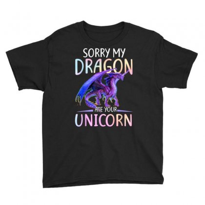Sorry My Dragon Ate Your Unicorn Funny Shirt Gift T Shirt Youth Tee Designed By Cuser1744
