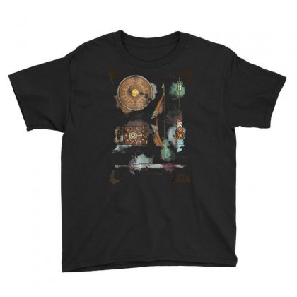 Zelda Breath Of The Wild Link Inventory Graphic T Shirt Youth Tee Designed By Cuser1744