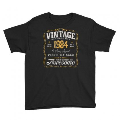 36th Birthday Classic Made In 1984 Vintage 36 Years Old Y2 T Shirt Youth Tee Designed By Cuser1744