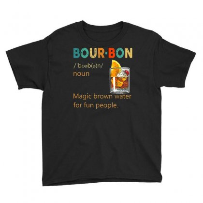 Bourbon Definition Retro Vintage T Shirt Youth Tee Designed By Cuser1744