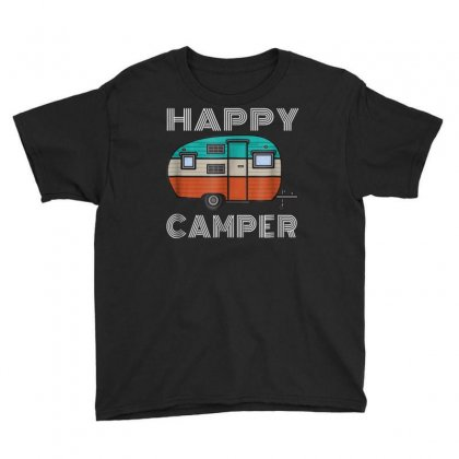 Camping Outdoor Camper Happy Camper Vintage Gift T Shirt Youth Tee Designed By Cuser1744