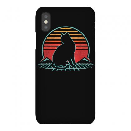 Cat Retro Vintage 80s Style Pet Animal Lover Gift T Shirt Iphonex Case Designed By Cuser1744