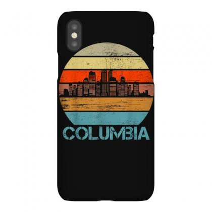 Columbia City Retro Vintage Skyline Gifts T Shirt Iphonex Case Designed By Cuser1744