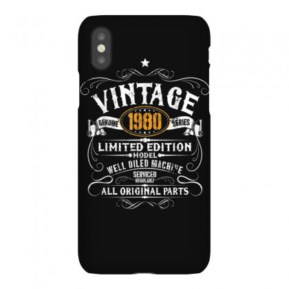 Funny 40th Birthday Gift Vintage 1980 Funny 40 Years Old T Shirt Iphonex Case Designed By Cuser1744