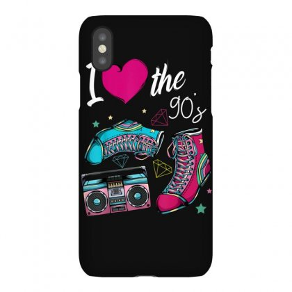 I Love The 90s 1990 Nineties Music Party Vintage Retro Funny T Shirt Iphonex Case Designed By Cuser1744