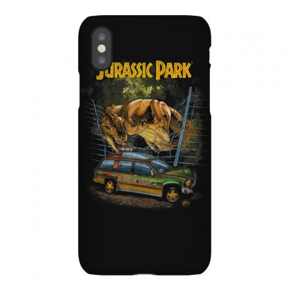 Jurassic Park Vintage T Rex Break Out Graphic T Shirt Iphonex Case Designed By Cuser1744