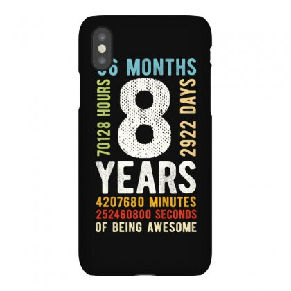Kids 8th Birthday 8 Years Old Vintage Retro 96 Months T Shirt Iphonex Case Designed By Cuser1744
