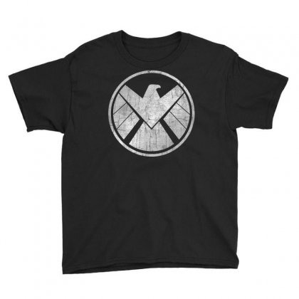 Marvel Agents Of S.h.i.e.l.d. Grungy Logo Vintage T Shirt T Shirt Youth Tee Designed By Cuser1744