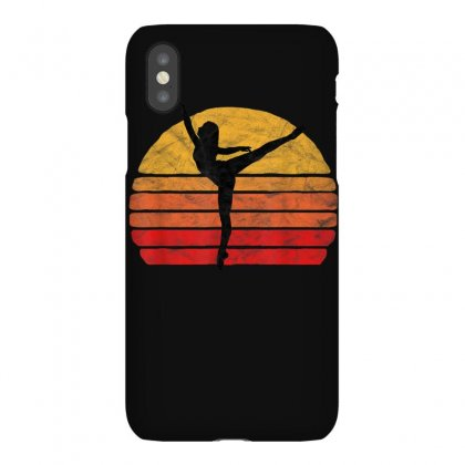 Penché Dancer  En Pointe And Sun Vintage 80's Ballet Graphic T Iphonex Case Designed By Cuser1744