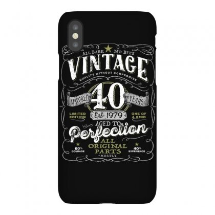 Vintage 40th Birthday Shirt, 1979, Aged To Perfection Iphonex Case Designed By Cuser1744