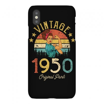 Vintage 1950 Made In 1950 70th Birthday 70 Years Old Gift T Shirt Iphonex Case Designed By Cuser1744