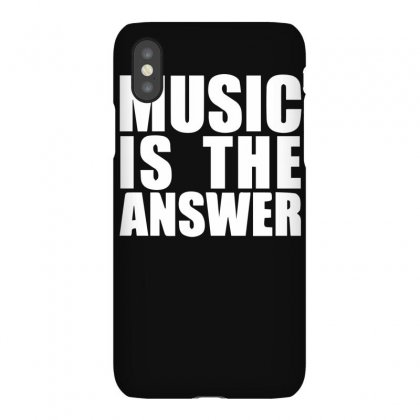 Music Is The Answer Printed Iphonex Case Designed By Funtee
