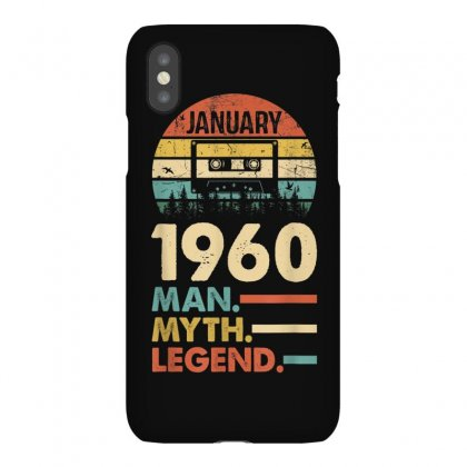 Vintage 1960 January 60th Birthday 60 Man Myth Legend T Shirt Iphonex Case Designed By Cuser1744