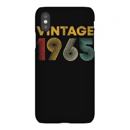 Vintage 1965 55 Years Old Born In 1965 55th Birthday Gift T Shirt Iphonex Case Designed By Cuser1744
