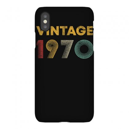 Vintage 1970 50 Years Old Born In 1970 50th Birthday Gift T Shirt Iphonex Case Designed By Cuser1744