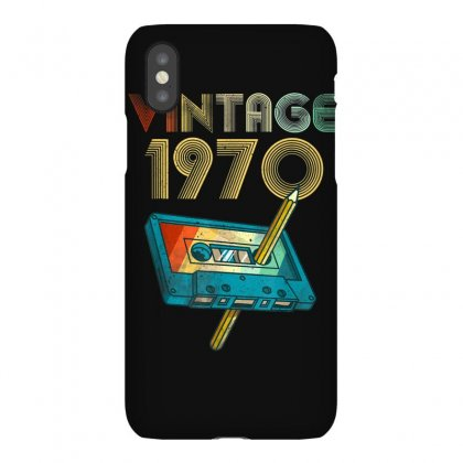 Vintage 1970 Music Cassette 50th Birthday 50 Years Old Gifts T Shirt Iphonex Case Designed By Cuser1744