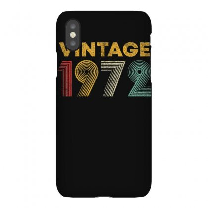 Vintage 1972 48 Years Old Born In 1972 48th Birthday Gift T Shirt Iphonex Case Designed By Cuser1744