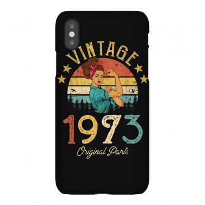 Vintage 1973 Made In 1973 46th Birthday 46 Years Old Gift T Shirt Iphonex Case Designed By Cuser1744