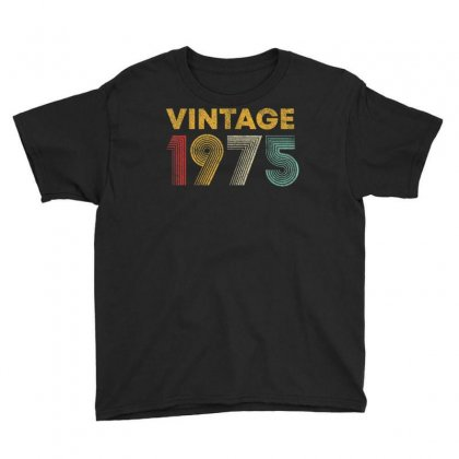 Vintage 1975 45 Years Old Born In 1975 45th Birthday Gift T Shirt Youth Tee Designed By Cuser1744