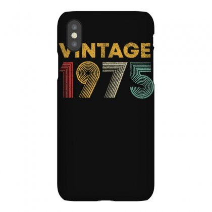Vintage 1975 45 Years Old Born In 1975 45th Birthday Gift T Shirt Iphonex Case Designed By Cuser1744