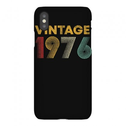 Vintage 1976 44 Years Old Born In 1976 44th Birthday Gift T Shirt Iphonex Case Designed By Cuser1744