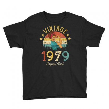 Vintage 1979 Made In 1979 40th Birthday 40 Years Old Gift T Shirt Youth Tee Designed By Cuser1744